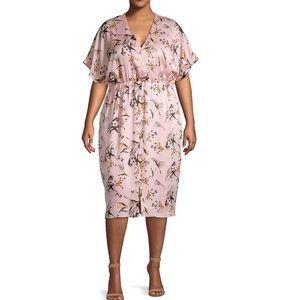 NWT Rachel Roy Plus Size Pink Floral Sheath Dress